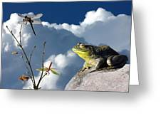 Where Dragonflies Grow On Trees Greeting Card