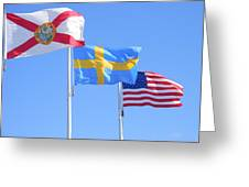 Where Florida Sweden And Us Meet Greeting Card