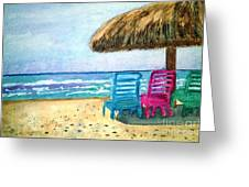 Peaceful Day At The Beach Greeting Card