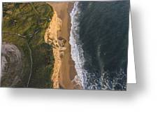 Where Land Meets The Sea Greeting Card
