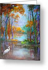 Where The Egret Lives Greeting Card