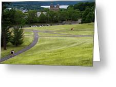 Where The Paths Cross Cornell University Ithaca New York Greeting Card