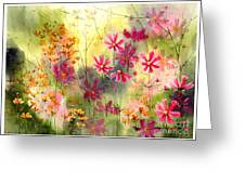Where The Pink Flowers Grow Greeting Card