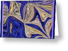 Where The Sky Meets The Sea Abstract Greeting Card