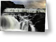 Where The Water Falls Greeting Card