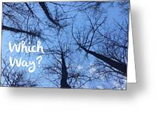 Which Way? Greeting Card