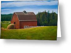 Whidbey Island Barn Greeting Card