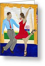 While America Withers Greeting Card by Sal Marino