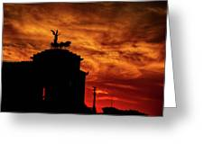 While Rome Burns Greeting Card
