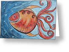 Whimpsy Fish 2 Greeting Card by Rain Ririn