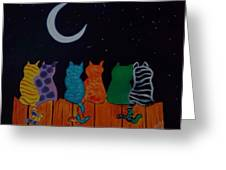 Whimsical Cats Greeting Card