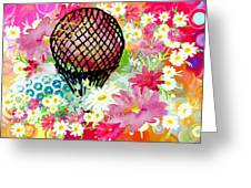 Whimsical Musing High In The Air Greeting Card