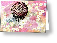 Whimsical Musing High In The Air Pink Greeting Card