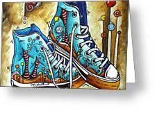Whimsical Shoes By Madart Greeting Card