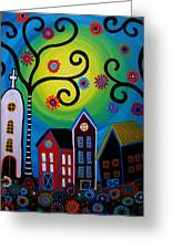 Whimsical Town Greeting Card