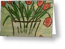 Whimsical Tulips Greeting Card