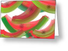 Whimsical Watermelon Greeting Card by Denise Warsalla