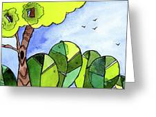 Whimsy Trees Greeting Card