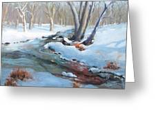 Whippany Brook In Winter Greeting Card