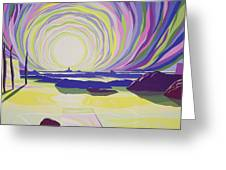 Whirling Sunrise - La Rocque Greeting Card
