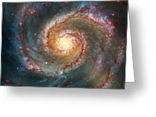 Whirlpool Galaxy  Greeting Card by Jennifer Rondinelli Reilly - Fine Art Photography