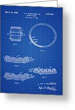 Whiskey Barrel Patent 1968 In Blue Print Greeting Card