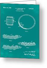 Whiskey Barrel Patent 1968 In Green Greeting Card