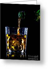 Whiskey Being Poured Greeting Card by Richard Thomas