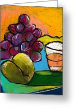 Whiskey  Pear  Grapes Greeting Card