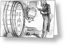 Whiskey Ring Cartoon, 1876 Greeting Card