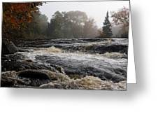 Whiskey River - Foggy Fall Waterscape Greeting Card