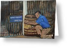 Whiskey Sleeping Greeting Card