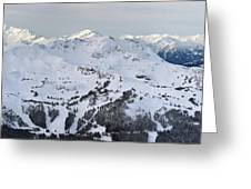 Whistler Mountain Panorama Greeting Card by Pierre Leclerc Photography
