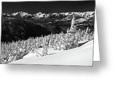 Whistler Mountain Winter Scenery Greeting Card