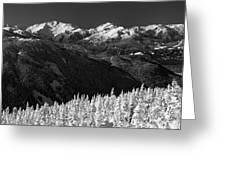 Whistler Winter Scenery Greeting Card
