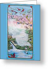 Whistling Angel-break Of Dawn   Greeting Card