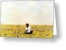 Whistling For Plover 1874 Greeting Card