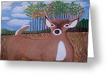 Whit Tall Buck Greeting Card