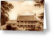 Whitall House Redbank Nj  Sepia Hdr Greeting Card