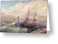 Whitby, 1883 Greeting Card