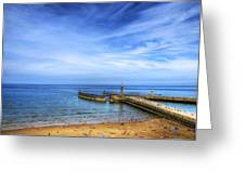 Whitby Beach Greeting Card
