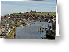Whitby Marina And The River Esk Greeting Card