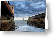 Whitby Morning Tide 2 Greeting Card