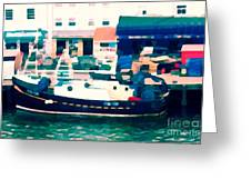 Whitby Quayside Greeting Card