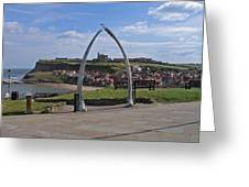 Whitby Whale Bone Arch  Greeting Card