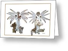 White Angels Greeting Card