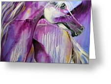 White Arabian Nights Greeting Card by Laurie Pace