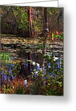 White Azaleas In The Swamp Greeting Card