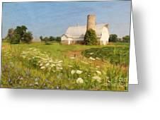 White Barn In Michigan Greeting Card