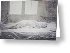 White Bed Sheet- Warmth Greeting Card
